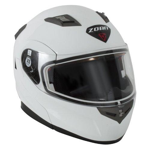 Snowmobile Full Face Modular Helmet (Zoan Flux 4.1 Snow Gloss White Electric Lens Modular Full Face Snowmobile Helmet 2X-Large)