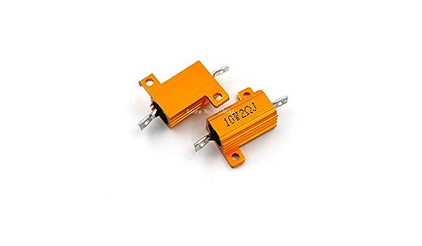 RX24 25W 4R 4RJ Power Metal Shell Aluminium Gold Resistor 25Watt 4 ohm High Power Heatsink Resistance Golden Heat Sink Resistor