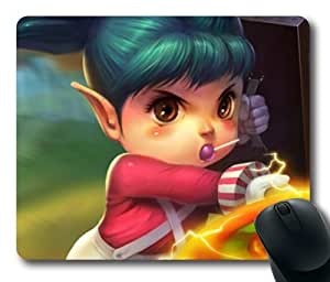 Poppy, the Iron Ambassador-1 Mouse Pad, Customized Rectangle The Game League of Legends Mousepad Diy By Bestsellcase
