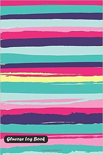 glucose log book stripe play cover shamrock logbook 9781730982958