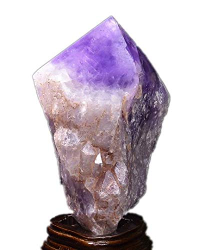 yippee Natural Large Raw Amethyst Point-top Polished/Natural Amethyst Quartz Tower/Purple Crystal Ornaments/Amethyst Decor