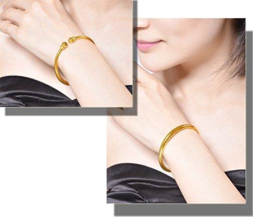 Vietnam Alluvial Gold Bracelet Bangle 24k Gold-Plated Women Girls Models not Fade Woman Gift Glossy Golden Bracelets Simulation
