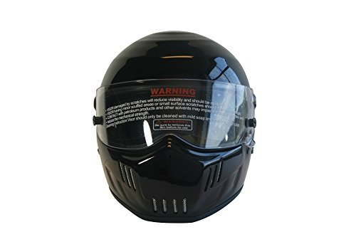CRG Sports ATV Motocross Motorcycle Scooter Full-Face Fiberglass Helmet DOT Certified ATV-6 Glossy Black Size Large by CRG Sports (Image #1)