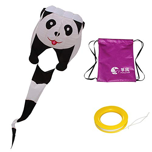Fullfar Parafoil 3D Panada Kite, Nylon Fabric Software Easy to Fly,Good Beginner Kite for Kids. 244×39 inch Long with Kite String and Packback, Fly Kite for Beach or Park. by Fullfar