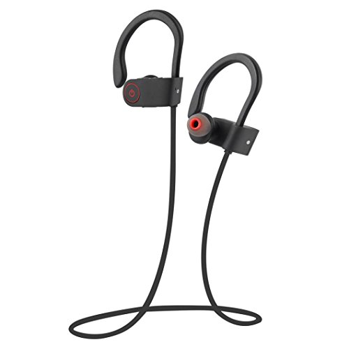 Wireless Bluetooth Headset,Sunfei Wireless Bluetooth Headset Stereo Headphone Earphone Sport for iPhone for LG (Black)