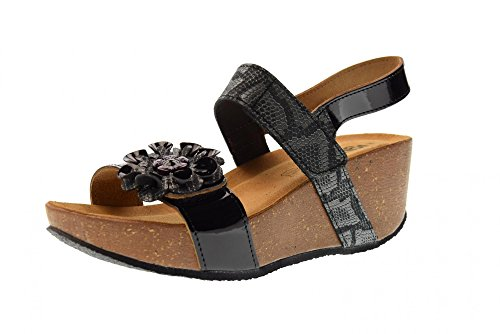 bivelcro In Leder Undercover Made Sandale Cork IGI Italy Schwarz CO Lack In Wedge Schwarz 1196100 Frau HqwxvOWpU
