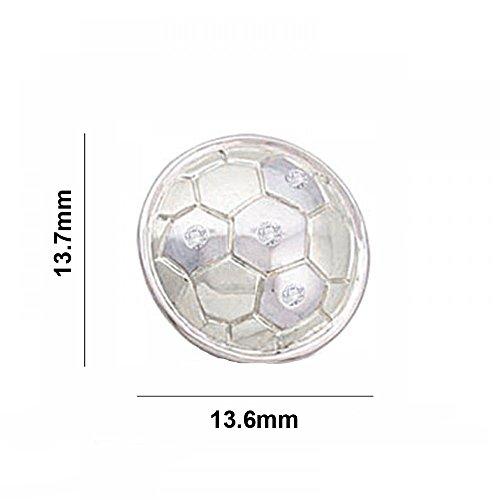 Argent Blanc 92 ct Pendentifs Diamant en forme de football, 0.02 Ct Diamant, GH-SI, 1.67 grammes.