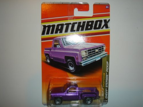 (2011 Matchbox Chevy Stepside Pickup Purple #76 of 100)