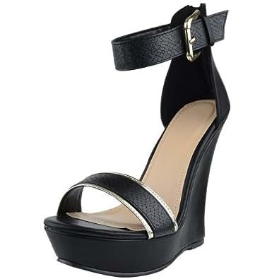 Amazon.com | DS By KSC Womens Platform Sandals Two Tone