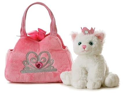 8e062b01d3e Image Unavailable. Image not available for. Color: Aurora World Fancy Pals  Plush Princess Kitten Purse ...