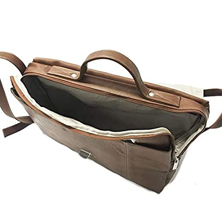 Piel Leather Outback Devonport Briefcase Brown