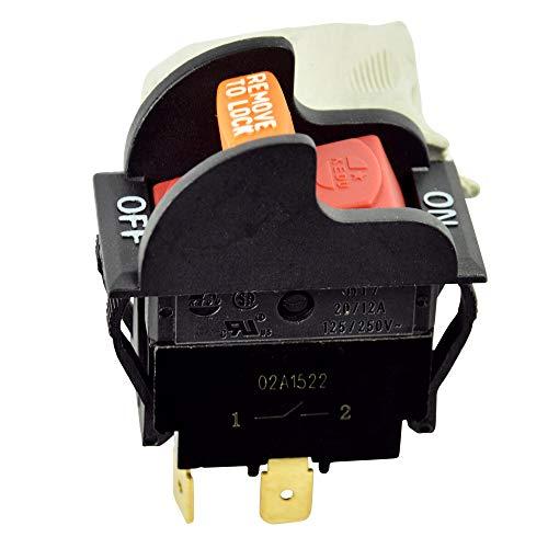 - Gardner Bender GSW-47 SPST, ON-Off, 20 A/125V AC, Spade Terminal Heavy-Duty Electrical Bench Tool Rocker Switch, Black