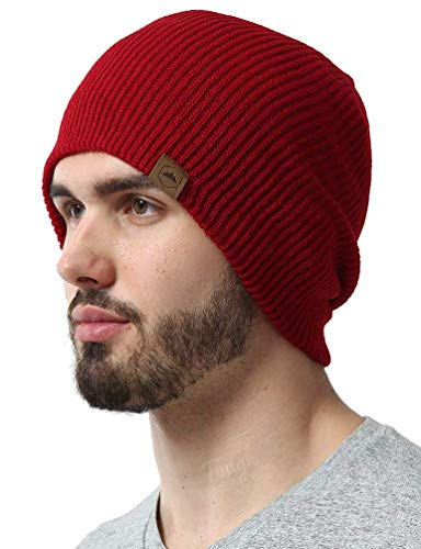 Tough Headwear Daily Knit Ribbed Beanie Warm, Stretchy & Soft Beanie Hats for Men & Women - Year Round Comfort - Serious Beanies for Serious Style