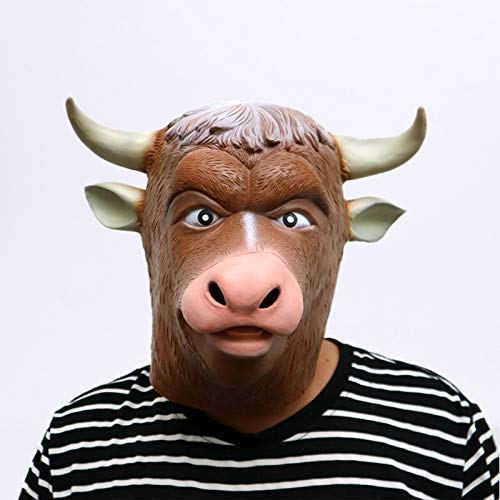 DeemoShop Cattle Devil Halloween Cattle Mask Cow Bull Animal Helmet Halloween Party Decorations Halloween Costume Ball Party Masks for $<!--$47.67-->