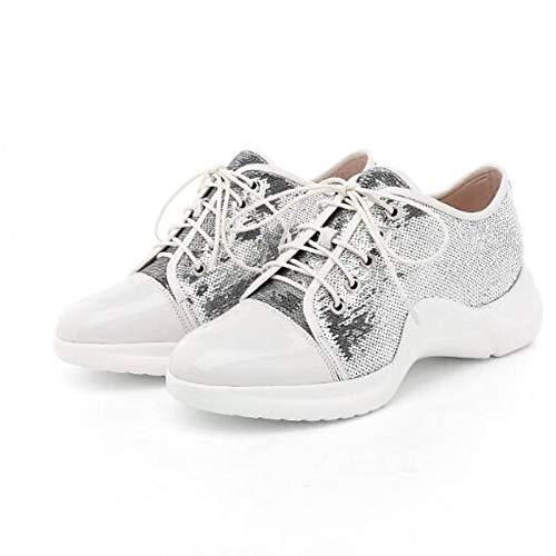 Sneakers Estate Punta chiusa Nero Nappe Comfort da Tacco ZHZNVX Scarpe White Bianco donna piatto Primavera vCxUIq0qw