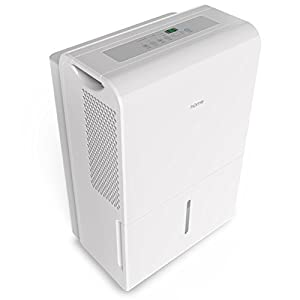 Portable Dehumidifier by hOmeLabs, 9 Gallon (70 Pint) Energy Star Safe Mid Size for Basements Large Rooms up to 4000 Sq Ft with Fan Wheels and Drain Hose Outlet to Remove Odor and Allergens
