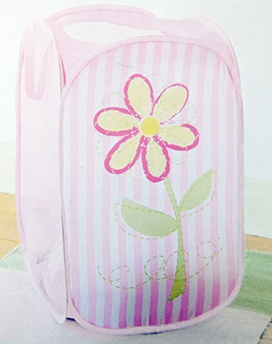 Heritage Kids Flowers and Stripes Pop Up Hamper Toy (Kids Clothes Hamper compare prices)