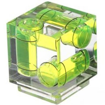 3 Axis Sony Shoe Mount Cube Bubble Spirit Level Yellow for Camera Desmond