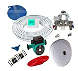 Water UNDERFLOOR Heating 1PORT KIT with 20 m2 +LCD Thermostat