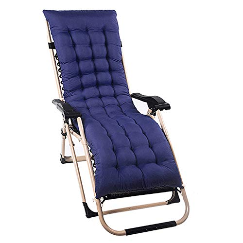 Happyyous Chaise Lounge Cushion Sun Lounger Replacement Indoor Outdoor Patio Garden Deckchair Recliner Relaxer Pad Cushion 60x20x2.75in (1PCS, Navy Blue)