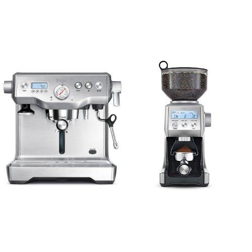 Sage by Heston Blumenthal the Dual Boiler Coffee Machine Silver /& Sage by Heston Blumenthal the Smart Grinder Pro 2200 W Stainless Steel 165 Watt