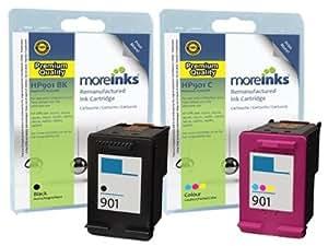 2Cartuchos de tinta compatibles de calidad para Impresora HP Officejet J4535–negro/colour