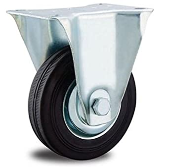 Lenkrolle 80 mm Gummi Rolle Rad Gummirolle