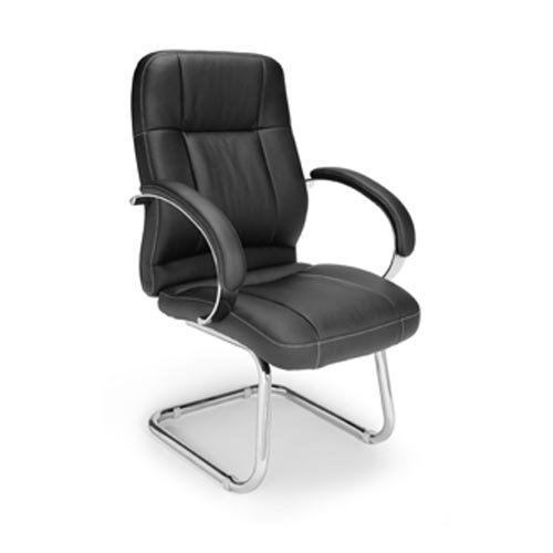OFM 518-LX Leatherette Executive Conference Guest Chair Seat/Back Color: Black ()