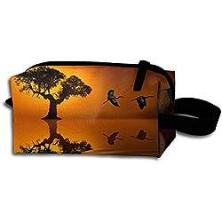 Sunset Beautiful Portable Travel Dopp Kit Bag Make Up Pouch For Men & Women