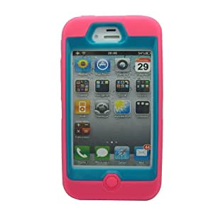 Voberry Multi Color Hybrid Shockproof Dirt Proof Durable Case Cover for Apple iPhone 4 4S(3)
