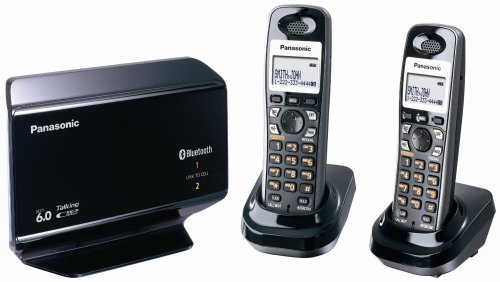 Panasonic Link-to-Cell Expandable Bluetooth-Enabled DECT 6.0 Phone System with 2 Handsets