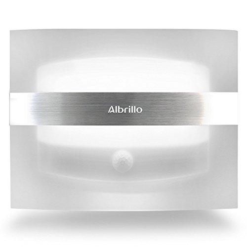 Albrillo LED Wandleuchte Kabellos batteriebetrieben Nachtlicht mit bewegungsmelder
