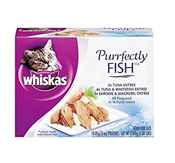 - Whiskas Variety Pack - Purrfectly Fish - 10-Pack
