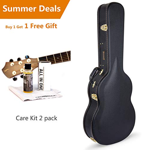 Crossrock CRW600C 4/4 Full Size Classical Guitar Case, Arch-top Wooden Case