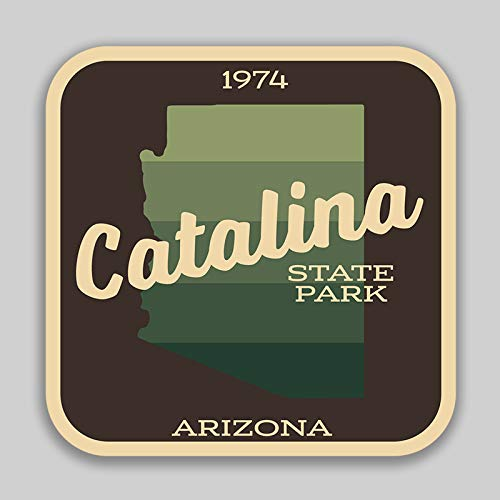 JMM Industries Catalina State Park Arizona Vinyl Decal Sticker Car Window Bumper 2-Pack 4-Inches by 4-Inches Premium Quality UV Protective Laminate - Cottage Catalina