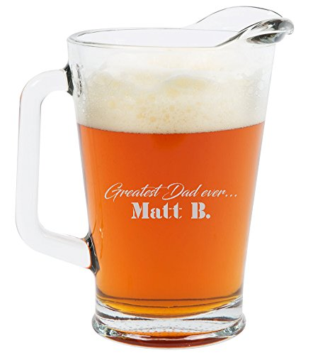 Personalized Glass Pitcher - Custom Engraved Pitcher (60oz)