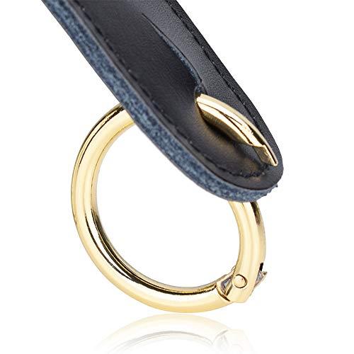 Bag Ring (CloudMusic Handbag Purse Cross Body Strap Rings Connectors Key Chains For Women Girls Guitar Strap (Circle Golden))
