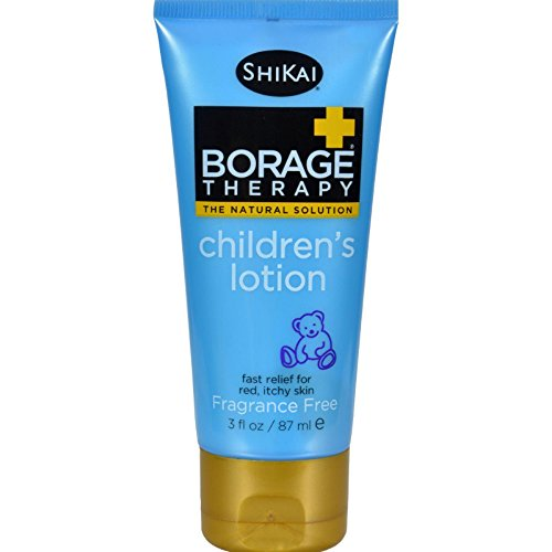 - ShiKai - Borage Therapy Children's Lotion, A Safe Plant-Based Alternative For Dry Skin, Effective for Cradle Cap, Eczema & Itchy Skin, Non-Greasy, For Ages 6 Months & Up (Fragrance-Free, 3 Ounces)