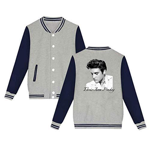 BBABC Acosoy Elvis Presley Mens & Womens Casual Style Hoodie Baseball Uniform Jacket Sport Coat Gray L]()