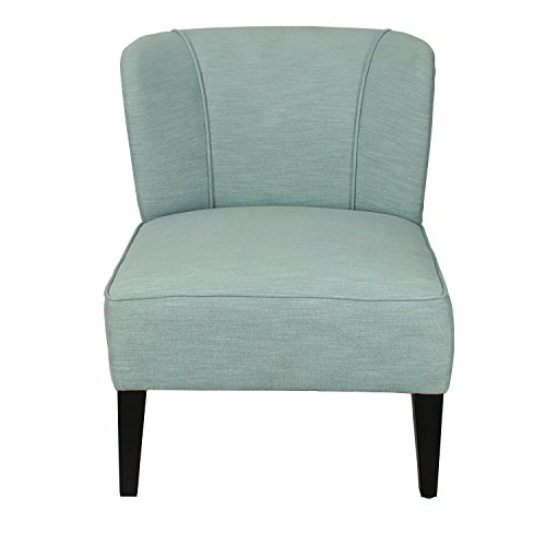 Living Room Club Chair, Home's Arts upholstered Fabric Tufted Arm Chair (Blue) (Savannah Rattan Garden Furniture)