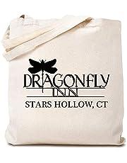 Dragonfly Inn Canvas Tote Bag Pandemic Gilmore Girls Inspired Reusable Shopping Bag for Women