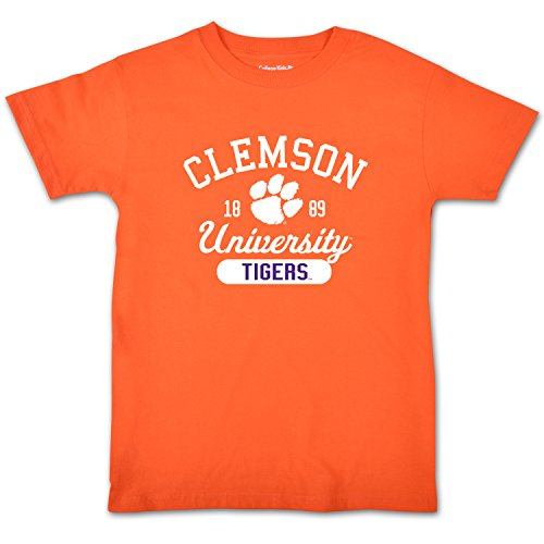 College Kids NCAA Clemson Tigers Youth Short Sleeve Tee, Size 7/X-Small, - Clemson Girl