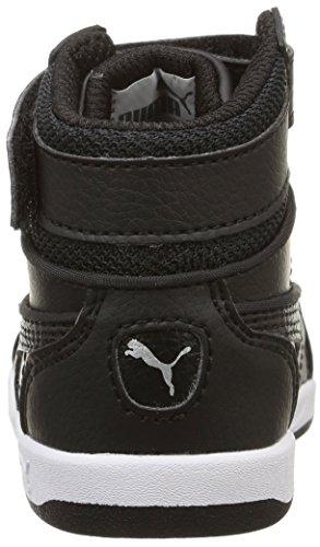 Puma Liza Mid - Zapatos para bebes Bebé-Niñas Negro (black/black/black)