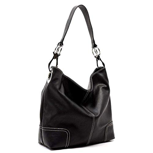 (Bagblaze Bucket Style Hobo Shoulder Bag with Big Snap Hook Hardware)