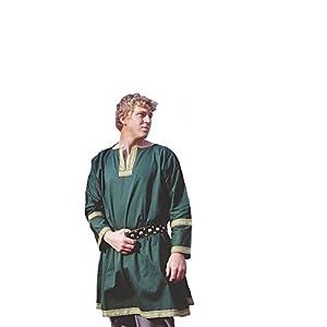 Amazon.com: Cotton Viking Tunic LARP Medieval Halloween Costume ...