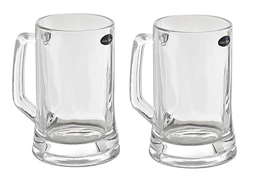(Amlong Crystal Lead Free Beer Mug - 12 oz (Right For 1 Bottle), Set of)