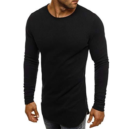 Longues Shirt Solide Bellelove Haut Slim dcontract Hommes Manches la T Charmant Noir Manches Mode Capuche Solide pour Chemisier Pull Pull Longues 7qHSqEx