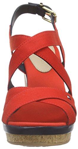 8d Red Midnight Rojo Rot Fiery Tommy Mujer Hilfiger Sandalias 629 E1285lena EnWqfA