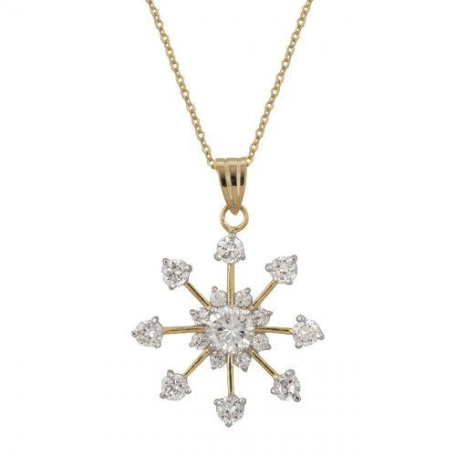 Golden Snowflake Drop Pendant from Icon Bijoux