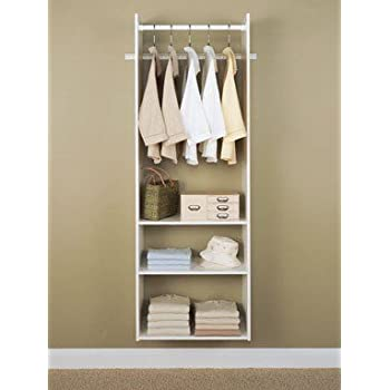 This Item Easy Track RV1472 Closet Hanging Tower Closet Organizer Kit,  White, 72 Inch